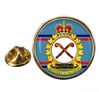 CFB Bagotville RCAF Round Pin Badge
