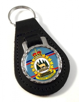CFS Beausejour RCAF Leather Key Fob