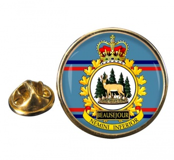 CFS Beausejour RCAF Round Pin Badge