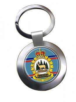 CFS Beausejour RCAF Chrome Key Ring