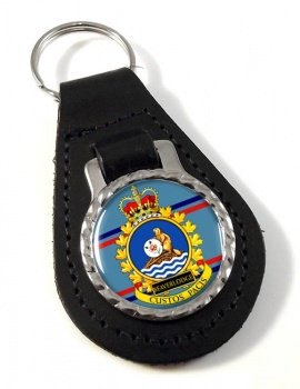CFS Beaverlodge RCAF Leather Key Fob