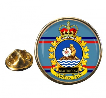 CFS Beaverlodge RCAF Round Pin Badge