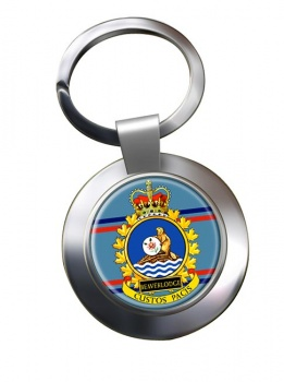CFS Beaverlodge RCAF Chrome Key Ring