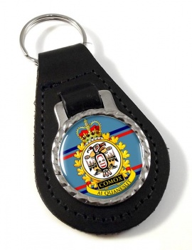 CFB Comox RCAF Leather Key Fob