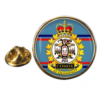 CFB Comox RCAF Round Pin Badge