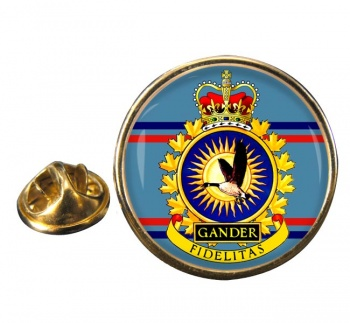 CFB Gander RCAF Round Pin Badge