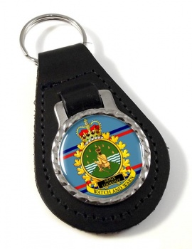 CFS Sioux Lookout RCAF Leather Key Fob