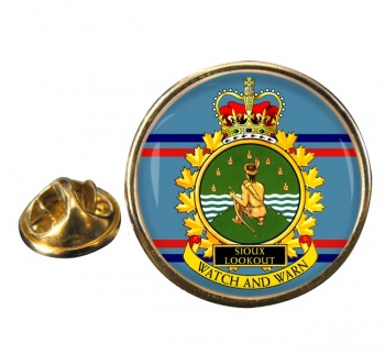 CFS Sioux Lookout RCAF Round Pin Badge