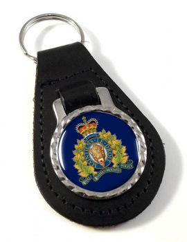 RCMP Leather Key Fob