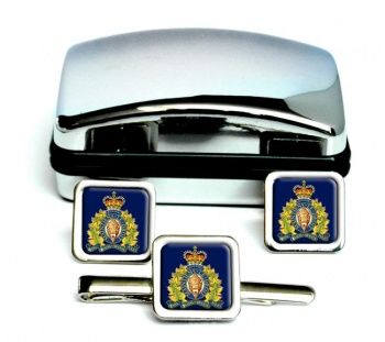 RCMP Square Cufflink and Tie Clip Set