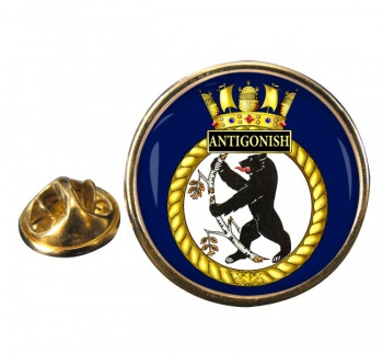 HMCS Antigonish Round Pin Badge