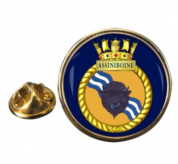 HMCS Assiniboine Round Pin Badge