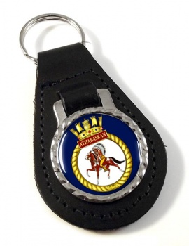 HMCS Athabaskan Leather Key Fob