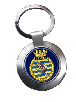 HMCS Beaver Chrome Key Ring