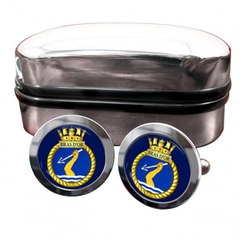 HMCS Bras d'Or Round Cufflinks