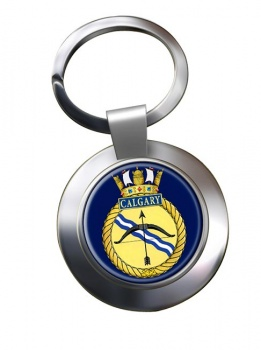 HMCS Calgary Chrome Key Ring