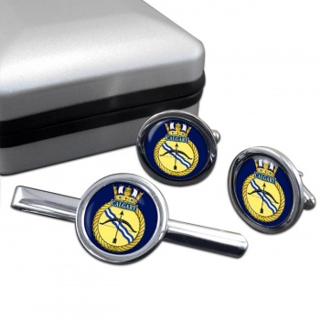 HMCS Calgary Round Cufflink and Tie Clip Set