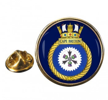 HMCS Cape Breton Round Pin Badge