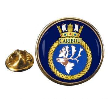 HMCS Caribou Round Pin Badge
