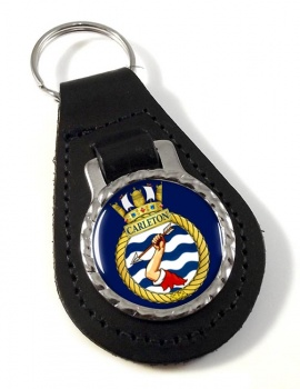 HMCS Carleton Leather Key Fob