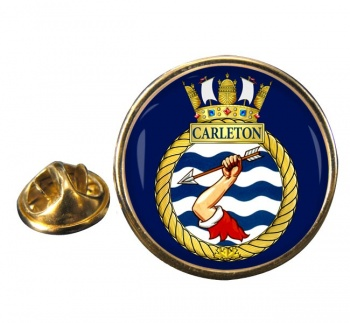HMCS Carleton Round Pin Badge