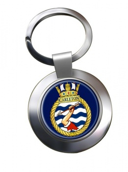 HMCS Carleton Chrome Key Ring