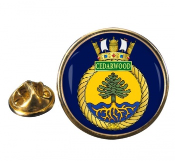 HMCS Cedarwood Round Pin Badge