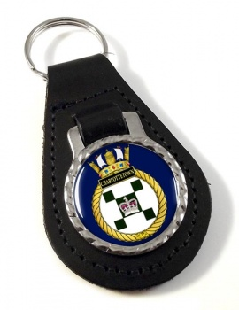 HMCS Charlottetown Leather Key Fob
