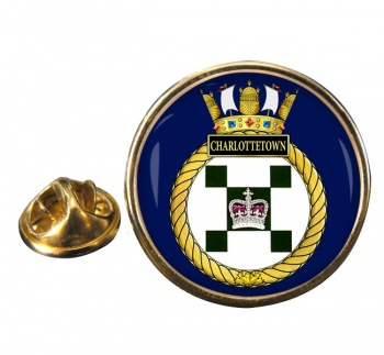 HMCS Charlottetown Round Pin Badge