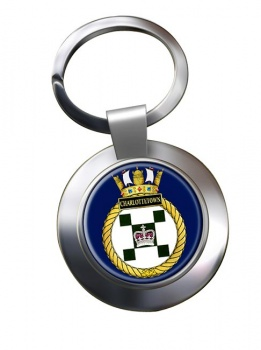 HMCS Charlottetown Chrome Key Ring