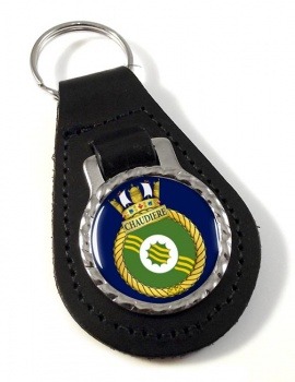 HMCS Chaudiere Leather Key Fob