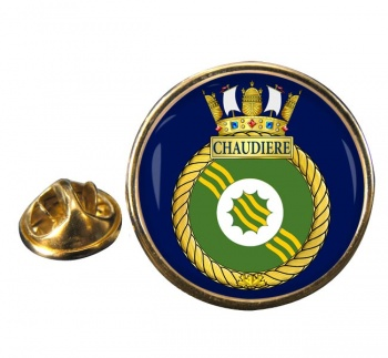 HMCS Chaudiere Round Pin Badge