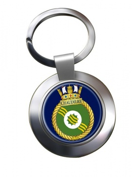 HMCS Chaudiere Chrome Key Ring