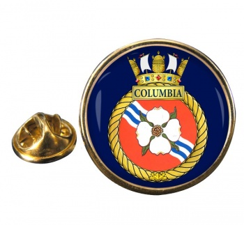 HMCS Columbia Round Pin Badge
