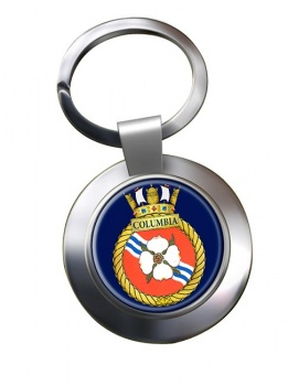 HMCS Columbia Chrome Key Ring