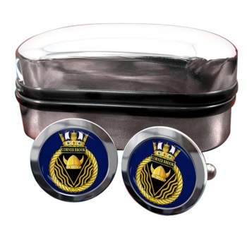 HMCS Corner Brook Round Cufflinks