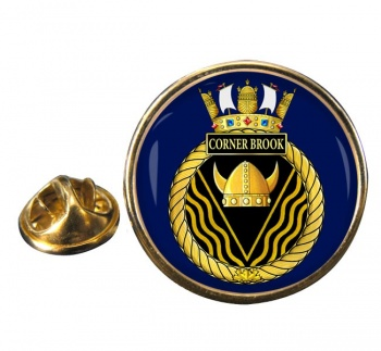 HMCS Corner Brook Round Pin Badge
