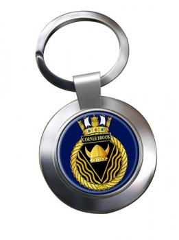 HMCS Corner Brook Chrome Key Ring