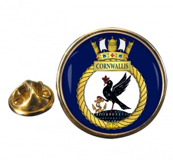 HMCS Cornwallis  Round Pin Badge