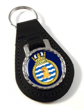 HMCS Cougar Leather Key Fob