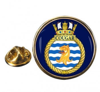 HMCS Cougar Round Pin Badge
