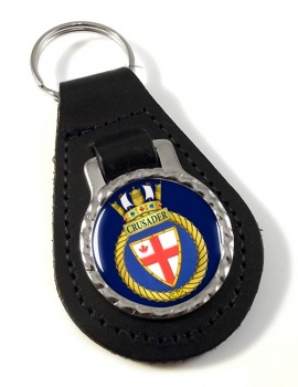 HMCS Crusader Leather Key Fob