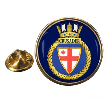 HMCS Crusader Round Pin Badge