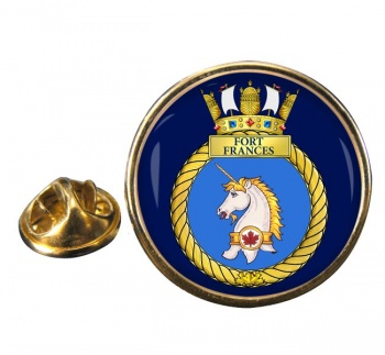 HMCS Fort Frances Round Pin Badge