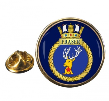 HMCS Fraser Round Pin Badge