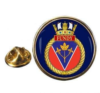 HMCS Fundy Round Pin Badge