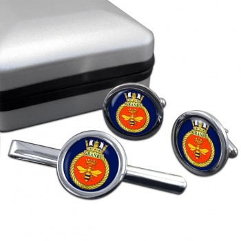 HMCS Granby Round Cufflink and Tie Clip Set