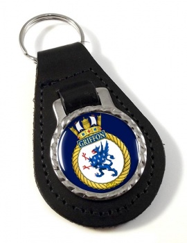 HMCS Griffon Leather Key Fob