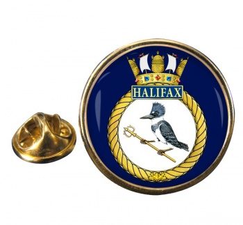 HMCS Halifax Round Pin Badge