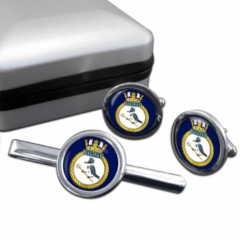 HMCS Halifax Round Cufflink and Tie Clip Set